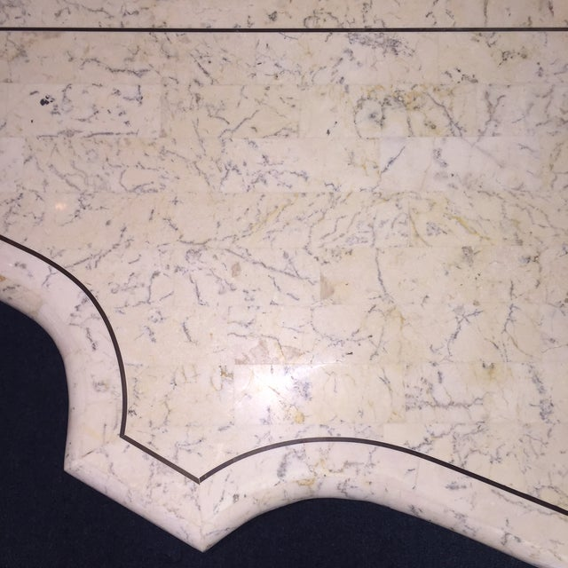 Antique Faux Marble and Iron Console Table For Sale - Image 10 of 11