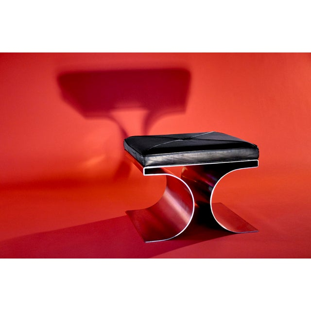 """Michel Boyer """"X"""" Stool, Circa 1968 For Sale In Detroit - Image 6 of 11"""