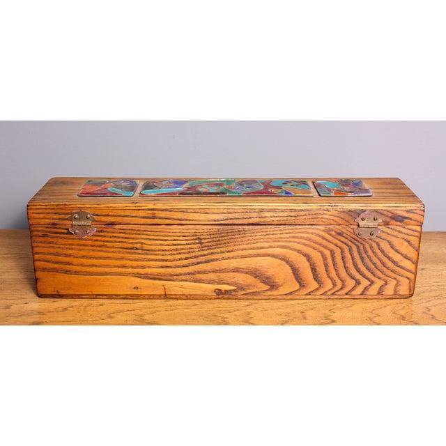 Late 1940s Elizabeth Bensley Wooden Box - Image 3 of 7
