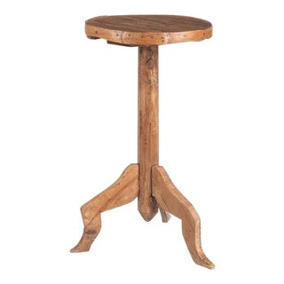 19th Century French Country Cherrywood Pedestal Table