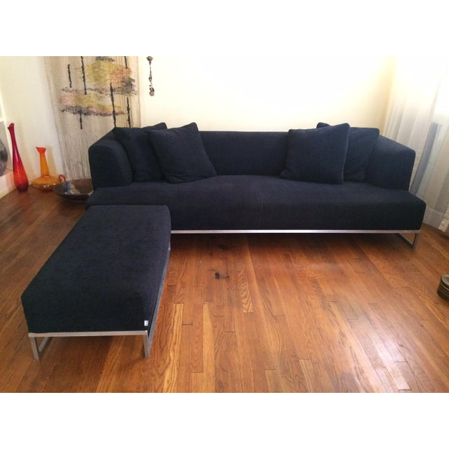 b b italia max alto solo sofa with ottoman by antonio citterio chairish. Black Bedroom Furniture Sets. Home Design Ideas