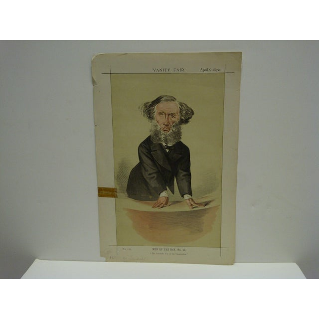 "This is a Vintage Vanity Fair Print -- Men Of The Day No. 43 -- Titled ""The Scientific Use Of Imagination"" -- Dated April..."