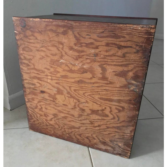 Antique 18th Chippendale Card Filing Library Cabinet For Sale - Image 10 of 13