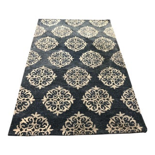 Empire Pottery Barn Scroll Area Rug For Sale