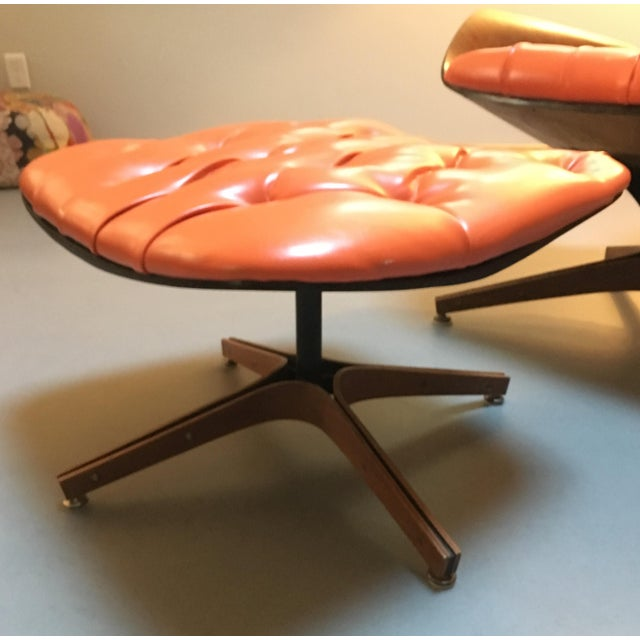 Fabric 1960's PlyCraft Lounge Chair & Ottoman For Sale - Image 7 of 10