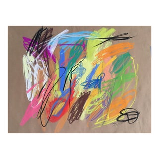 Abstract Drawing by Erik Sulander 21x17 For Sale