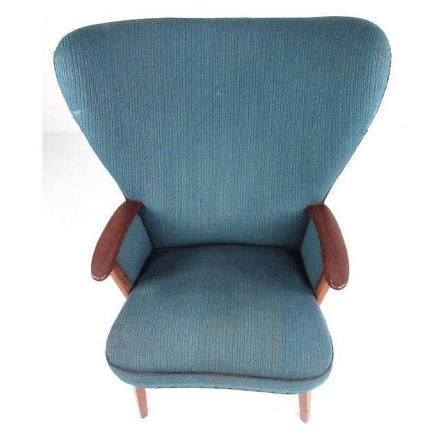 1950s Madsen & Schübel Pragh Wingback Lounge Chair For Sale - Image 5 of 9
