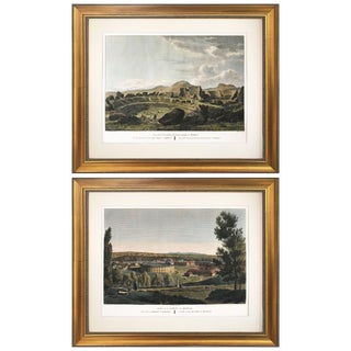 Antique Engravings of Spanish Ruins 1806 - a Pair For Sale