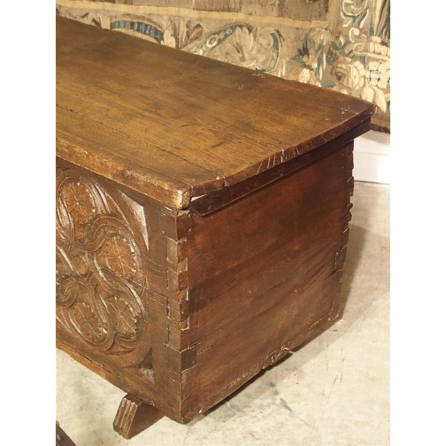 This large trunk from the Basque Country dates to mid 17th century. It is made from wonderful old thick planks of oak, and...