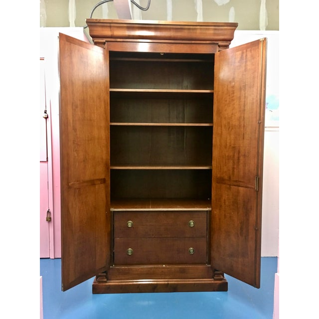 Italian Italian Cherry Wood Armoire For Sale - Image 3 of 8