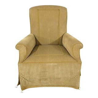 Traditional Upholstered Lounge Chair For Sale