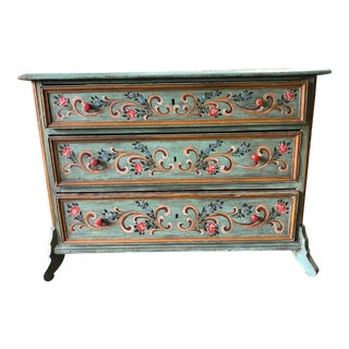 19th Century German Hand Painted Chest of Drawers For Sale