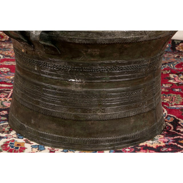 South Asian Bronze Rain Drum Table For Sale In New York - Image 6 of 10