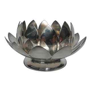 Reed & Barton Silver Plate Lotus Bowl For Sale