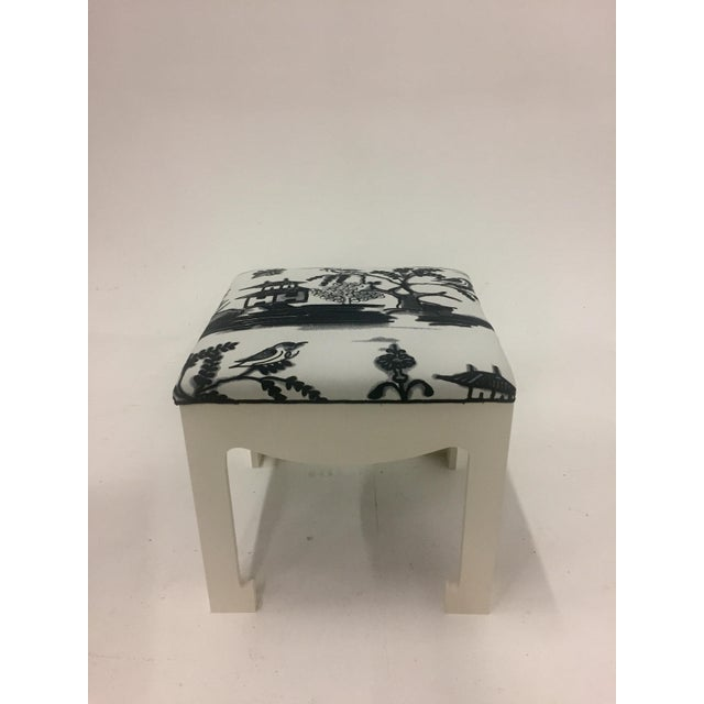 1970s Vintage Hollywood Regency Ottomans- A Pair For Sale - Image 4 of 13