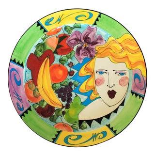 Large Ceramic Platter For Sale