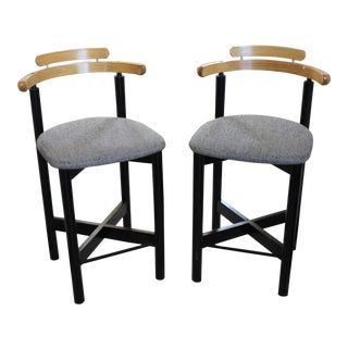 Vintage Mid Century Gangso Mobler Danish Bar Stools - A Pair For Sale