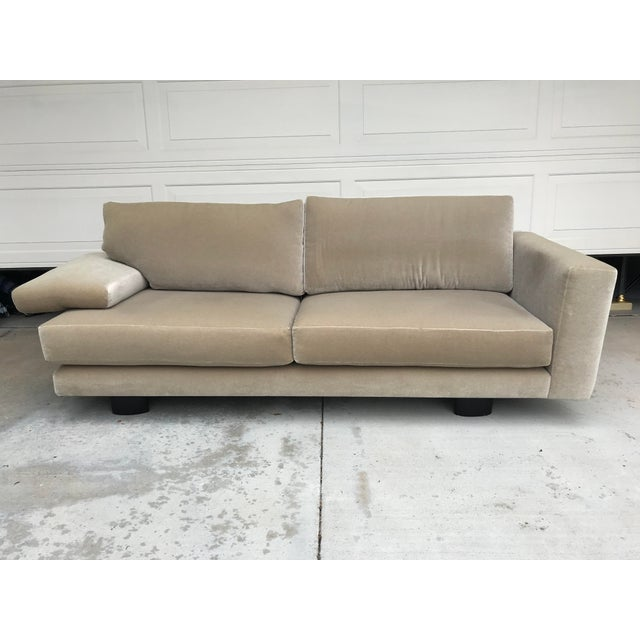 Mauro Lipparini for Saporiti Italia Mohair Sofa For Sale - Image 9 of 10