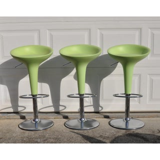 1990s Vintage Magis Bombo Green Bar Stools by Stefano Giovannoni- Set of 3 Preview