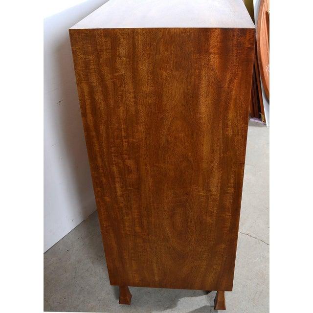John Widdicomb John Widdicomb Mid-Century Modern Mahogany Gentlemans Chest With Tambour Doors For Sale - Image 4 of 6