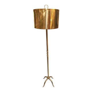 Italian Selezioni Domus Brass Floor Lamp For Sale