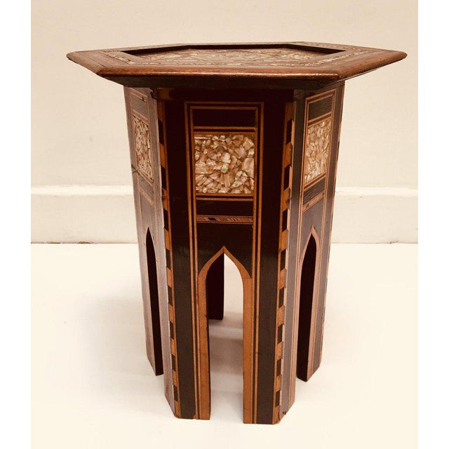 Black 19th Century Moorish Mother-Of-Pearl Inlaid Table For Sale - Image 8 of 13