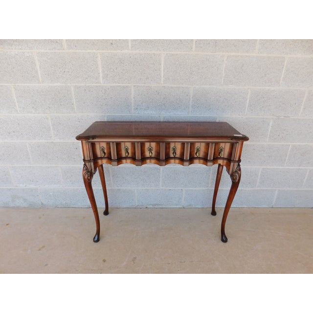 """Kittinger Georgian Style Mahogany Console Accent Table 38.25""""w For Sale - Image 13 of 13"""