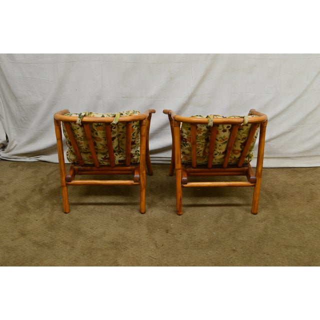Ficks Reed Ficks Reed Mid-Century Rattan Lounge Chairs - A Pair For Sale - Image 4 of 13
