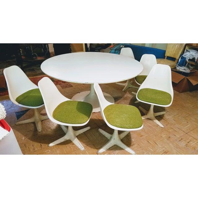 1960s Burke Saarinen Tulip Table & 6 Chairs For Sale - Image 5 of 11
