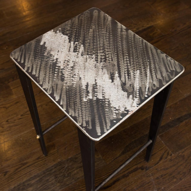 Will Stone Handmade Steel Drink Table - Image 4 of 6