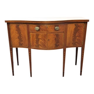 Early 20th Century Hepplewhite Flame Mahogany Inlaid Sideboard For Sale