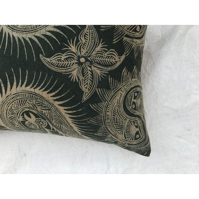 Asian Serpent Gray Batik Pillows - A Pair - Image 5 of 11