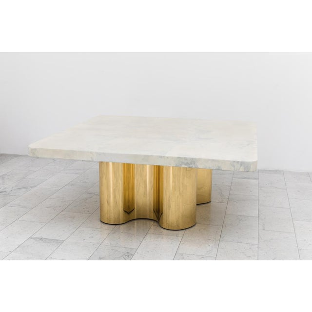 Karl Springer LTD Freeform Dining Table With Custom Goatskin Top, Usa For Sale - Image 4 of 4