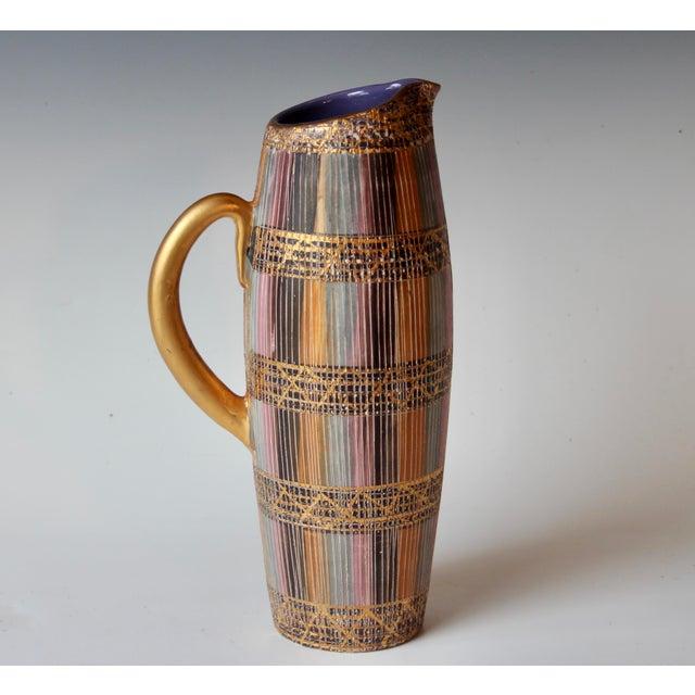 Mid Century Bitossi Raymor Seta Italian Pottery Londi Pitcher For Sale - Image 11 of 13