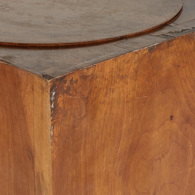 Traditional Walnut Plinth With Revolving Top for Sculpture Display From 19th Century England For Sale - Image 3 of 5