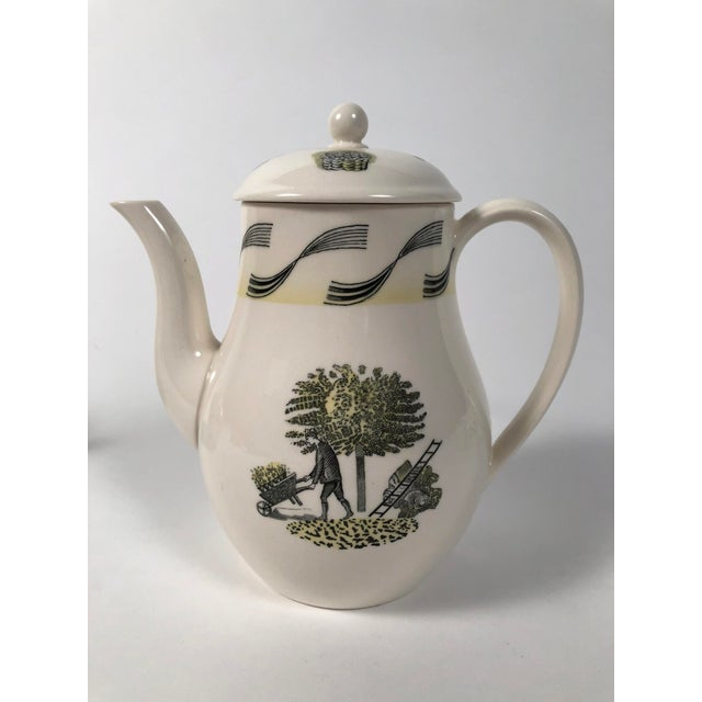 1950s Eric Ravilious Garden Series Coffee Service for Wedgwood - 4 Pc. Set For Sale - Image 5 of 13