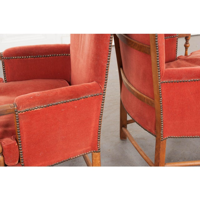 Orange 19th Century French Provincial Walnut Fauteuils - a Pair For Sale - Image 8 of 10