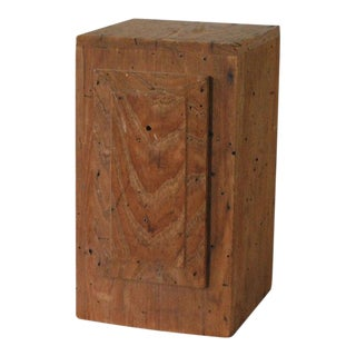 Vintage Wooden Pedestal For Sale