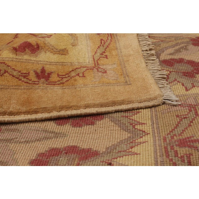 """Hand-Knotted Afghan Rug, 13'2"""" X 17'6"""" Feet For Sale - Image 4 of 5"""