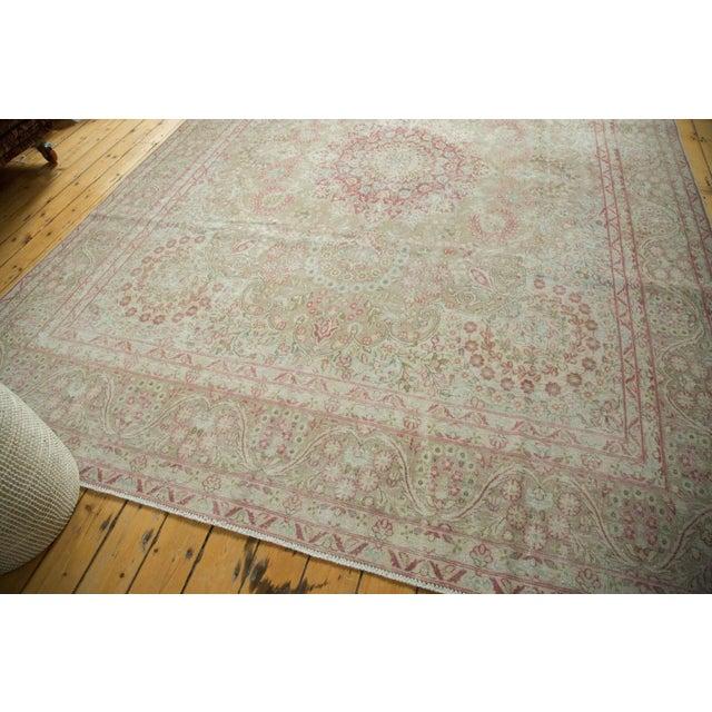 "Textile Vintage Distressed Meshed Carpet - 9'3"" x 12'5"" For Sale - Image 7 of 10"