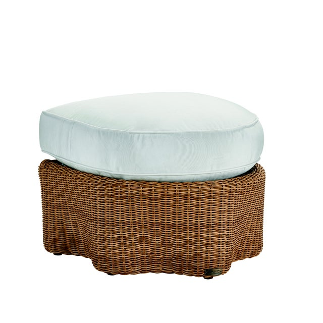 Not Yet Made - Made To Order Celerie Kemble - Crespi Wave Outdoor Ottoman For Sale - Image 5 of 5