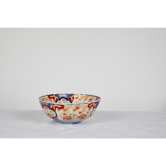 Early 20th Century Japanese Imari Scalloped Bowl For Sale In Atlanta - Image 6 of 11