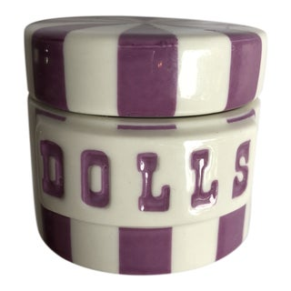 Jonathan Adler Ceramic Dolls Pillbox For Sale