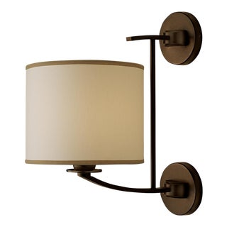 Glasgow Penny Bronze Wall Light & Shade For Sale
