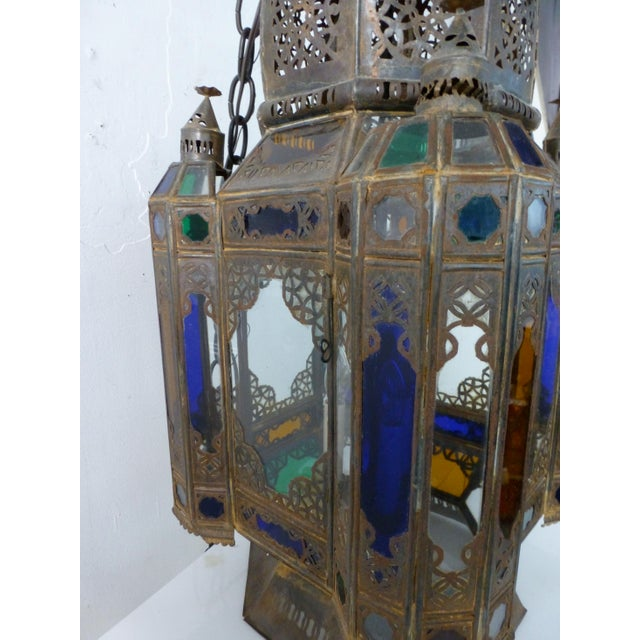 Art Glass Vintage 1960s Moroccan Moorish Statement Chandelier For Sale - Image 7 of 10