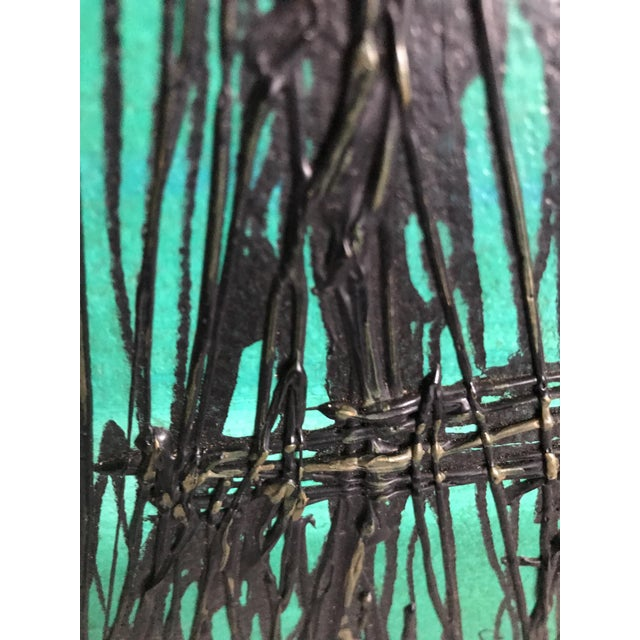 1960s Mid Century Modern 1960's Lee Reynolds Style Van Guard Studios Ships Drip Art Oil Painting For Sale - Image 5 of 8