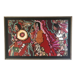 Large Native American Painting by Robert Elsocht