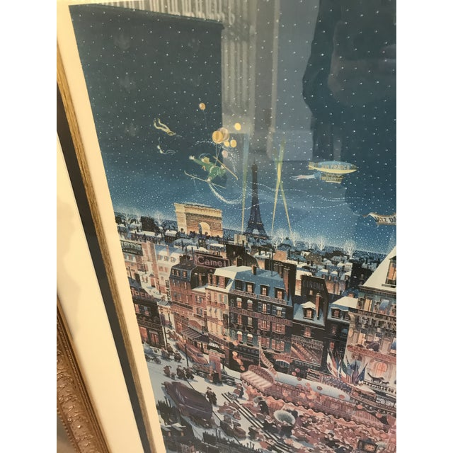 "Impressionist 1980s Yamagata Lithograph Titled "" City Lights"" For Sale - Image 3 of 7"