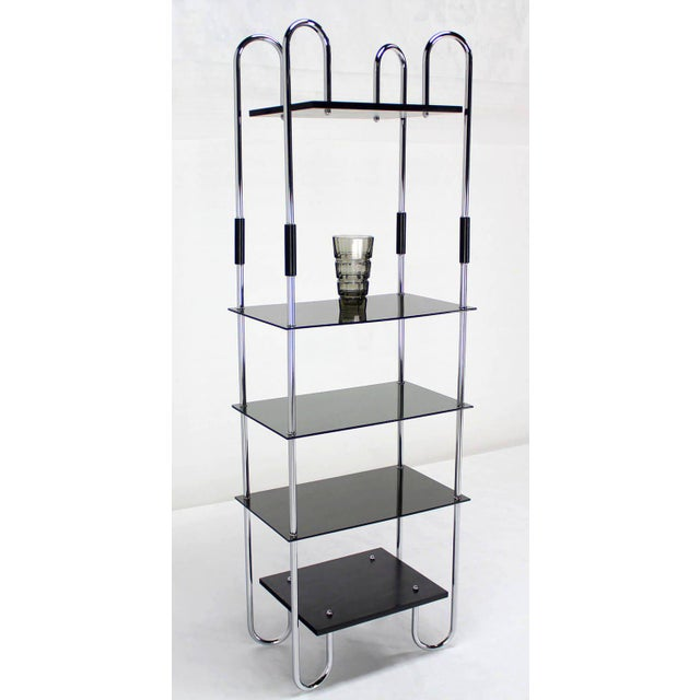 Metal Mid-Century Bauhaus Style Etagere For Sale - Image 7 of 11