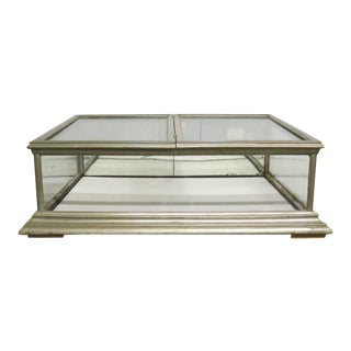 Antique Nickel Bat Wing Display Case For Sale